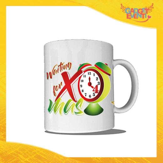 """Tazza Natalizia Personalizzata """"Waiting For Xmas"""" grafica Verde Mug Colazione Breakfast Idea Regalo Festività Natalizie Gadget Eventi"""