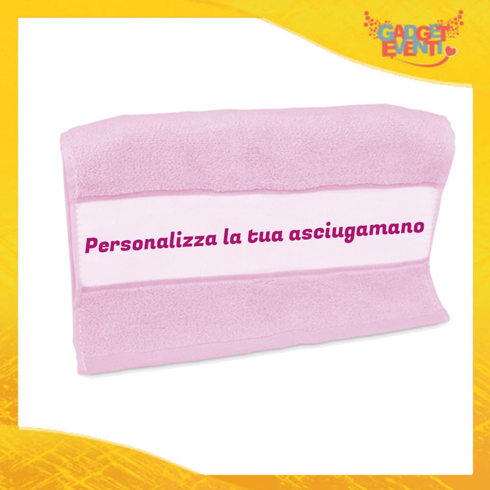 Asciugamano Personalizzabile Rosa Gadget Eventi