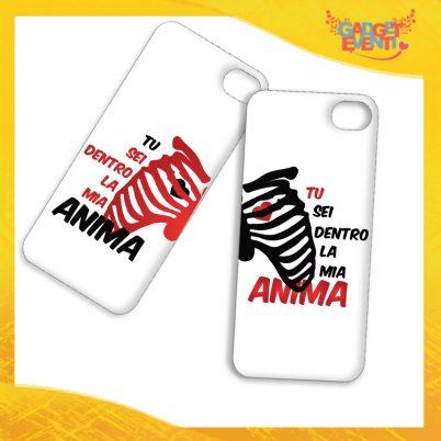 """Coppia Cover Smartphone Cellulare Tablet """"Amore Anima Scheletro"""" San Valentino Gadget Eventi"""