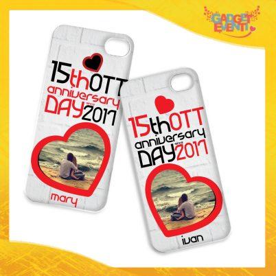 """Coppia Cover Smartphone Cellulare Tablet """"Anniversario con Data e Nomi"""" San Valentino Gadget Eventi"""