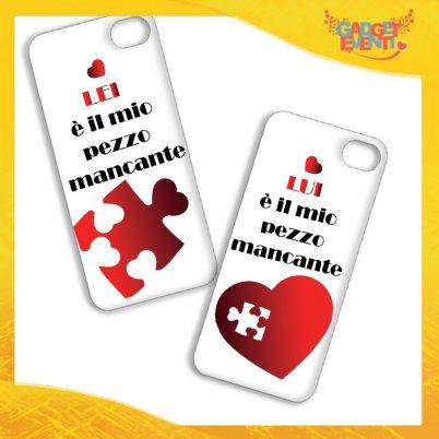 """Coppia Cover Smartphone Cellulare Tablet """"Pezzo Mancante"""" San Valentino Gadget Eventi"""