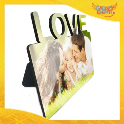 Globo Portafoto Love con Brillantini Luccicanti Personalizzato con Foto Testi e Immagini, Idea Regalo San Valentino Gadget Eventi