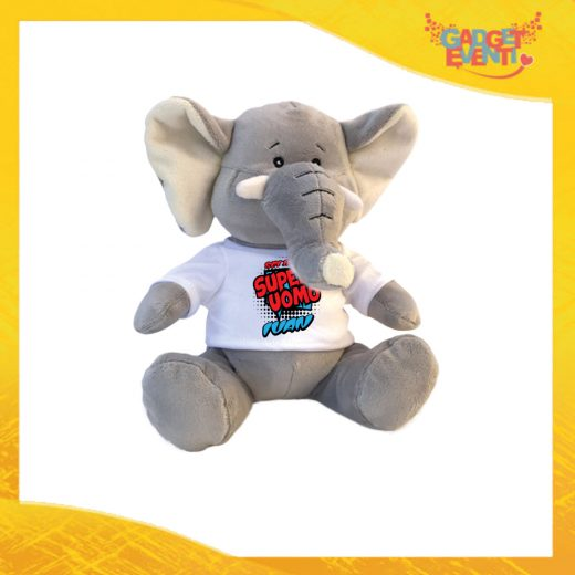 """Peluche Love Pupazzi a forma di Elefante """"Super Uomo con Nome"""" Pupazzetti di San Valentino Idea Regalo per Innamorati Gadget Eventi"""