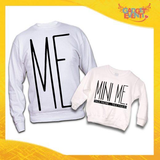 """Felpe Madre Figlio Nere """"Mini Me"""" Magliette Idea Regalo Originale Festa del Papà Gadget Eventi"""