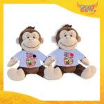 """Coppia di Peluche Love Pupazzi a forma di Scimmia """"Anniversario con Data e Nomi"""" Pupazzetti di San Valentino Idea Regalo per Innamorati Gadget Eventi"""