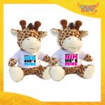 "Coppia di Peluche Love Pupazzi a forma di Giraffa ""Don't Look Her Him"" Pupazzetti di San Valentino Idea Regalo per Innamorati Gadget Eventi"