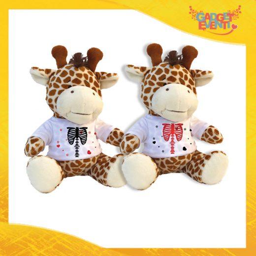 """Coppia di Peluche Love Pupazzi a forma di Giraffa """"Amore Anima Scheletro"""" Pupazzetti di San Valentino Idea Regalo per Innamorati Gadget Eventi"""