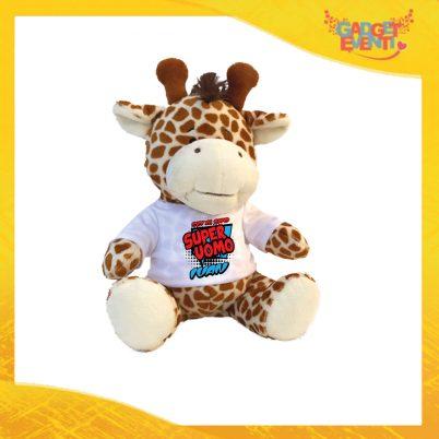 """Peluche Love Pupazzi a forma di Giraffa """"Super Uomo con Nome"""" Pupazzetti di San Valentino Idea Regalo per Innamorati Gadget Eventi"""