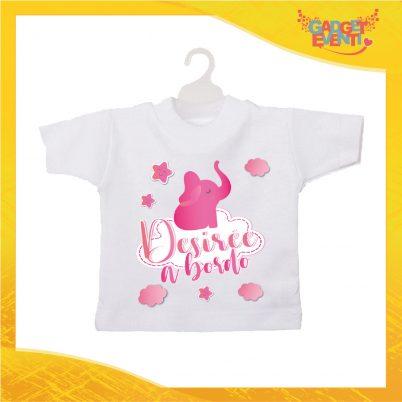 Mini tshirt elefantino rosa