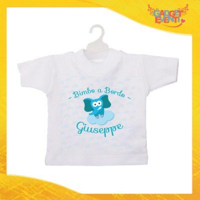 """Mini T-Shirt Bimbo Personalizzata Femminuccia """"Elefantino Con Nome"""" Gadget Eventi"""
