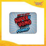 """Mouse Pad Rettangolare Per Innamorati """"Super Uomo con Nome"""" tappetino pc ufficio idea regalo San Valentino gadget eventi"""