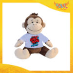 """Peluche Love Pupazzi a forma di Scimmia """"Super Uomo con Nome"""" Pupazzetti di San Valentino Idea Regalo per Innamorati Gadget Eventi"""