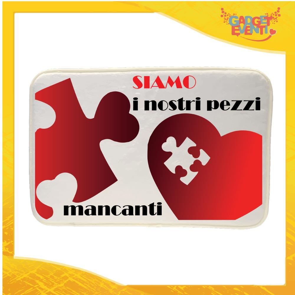 """Mouse Pad Rettangolare Per Innamorati """"Pezzo Mancante"""" Zerbino Casalingo Love San Valentino Idea Regalo gadget eventi"""