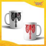 """Coppia di Tazze Love Personalizzate """"Amore Anima Scheletro"""" Mug Colazione Breakfast Idea Regalo Per Innamorati Gadget Eventi"""