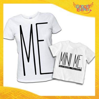 """T-Shirt Madre Figlio Bianche """"Mini Me"""" Magliette Idea Regalo Originale Festa del Papà Gadget Eventi"""
