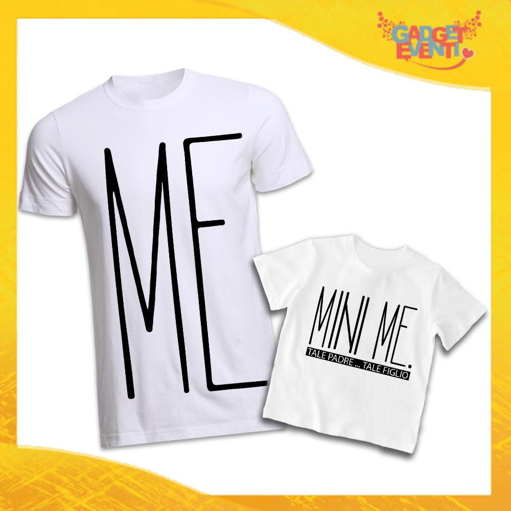 """T-Shirt Padre Figlio Bianche """"Mini Me"""" Magliette Idea Regalo Originale Festa del Papà Gadget Eventi"""