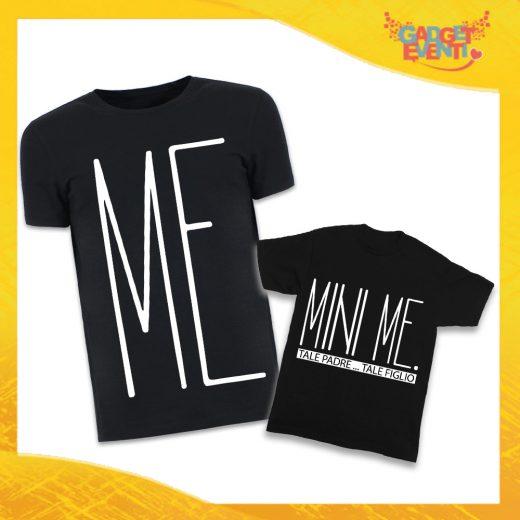 """T-Shirt Padre Figlio Nere """"Mini Me"""" Magliette Idea Regalo Originale Festa del Papà Gadget Eventi"""