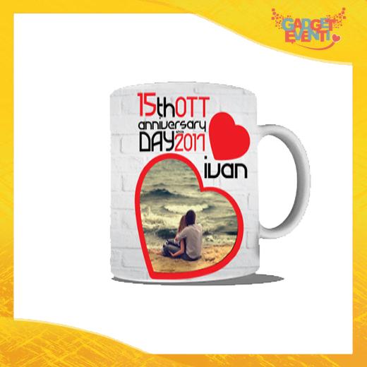 """Tazza Uomo Love Personalizzata""""Anniversario con Data e Nome"""" Mug Colazione Breakfast Idea Regalo Per Innamorati Gadget Eventi"""
