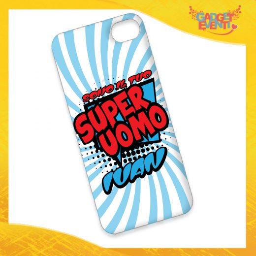 """Cover Smartphone Cellulare Tablet """"Super Uomo con Nome"""" San Valentino Gadget Eventi"""