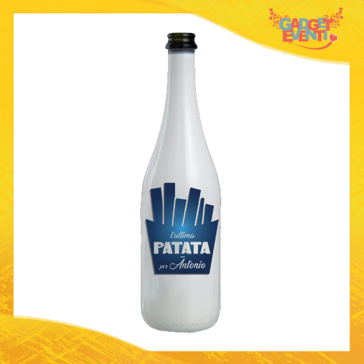 """Bottiglia da Vino Personalizzata """"Ultima Patata Con Nome"""" Idea Regalo Addio al Celibato Gadget Eventi"""