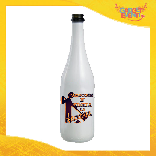 """Bottiglia da Vino Personalizzata """"È Finita la Pacchia Con Nome"""" Idea Regalo Addio al Celibato Gadget Eventi"""