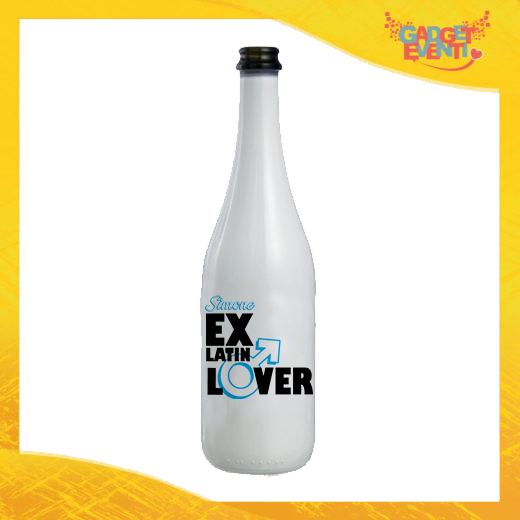 """Bottiglia da Vino Personalizzata """"Ex Latin Lover"""" Idea Regalo Addio al Celibato Gadget Eventi"""