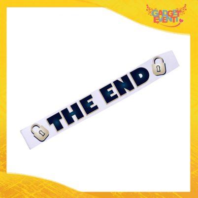 """Fasce per Addii al Celibato """"The End"""" Modello Mister Idea Regalo Promessa Sposo Ultima Notte da Celibato Gadget Eventi"""