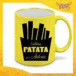 """Tazza Fluo Gialla Personalizzata """"Ultima Patata Con Nome"""" Mug Colazione Breakfast Idea Regalo Per Addii al Celibato Gadget Eventi"""
