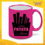 """Tazza Fluo Fucsia Personalizzata """"Ultima Patata Con Nome"""" Mug Colazione Breakfast Idea Regalo Per Addii al Celibato Gadget Eventi"""