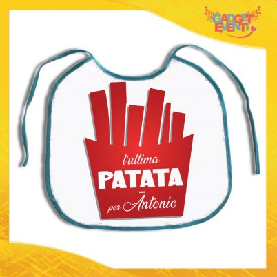 """Maxi Bavetta per Addii al Celibato """"Ultima Patata Con Nome"""" Bavettone per festa di Celibato Idea Regalo Gadget Eventi"""