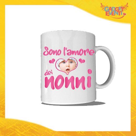 """Tazza """"Sono l'Amore dei Nonni"""" Colazione Breakfast Mug Idea Regalo Festa dei Nonni Gadget Eventi"""