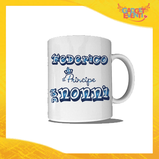 """Tazza """"Principe dei Nonni"""" Colazione Breakfast Mug Idea Regalo Festa dei Nonni Gadget Eventi"""