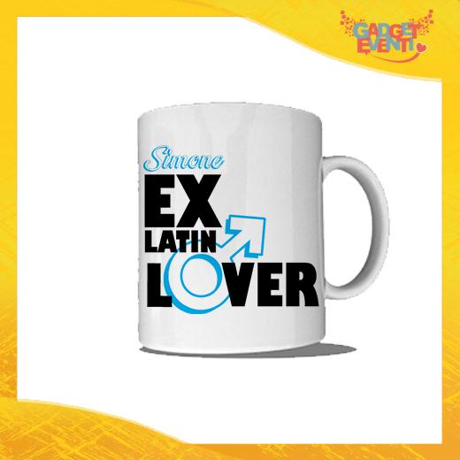 """Tazza Bianca Personalizzata """"Ex Latin Lover"""" Mug Colazione Breakfast Idea Regalo Addio al Celibato Gadget Eventi"""