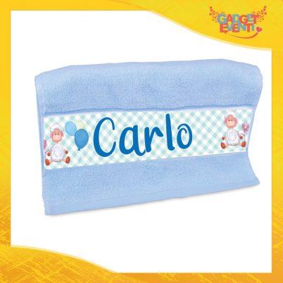 Asciugamano Bimbo Personalizzato con Nome Pecorella