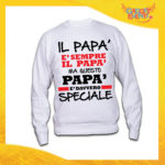 """Felpa Uomo Bianca """"Papà è Davvero Speciale"""" Maglione Festa del Papà Gadget Eventi"""
