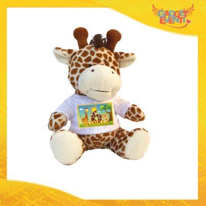 """Peluche Bimbo/a Pupazzi a forma di Giraffa """"Safari Nome e Numero"""" Pupazzetti per Compleanni Idea Regalo per Innamorati Gadget Eventi"""