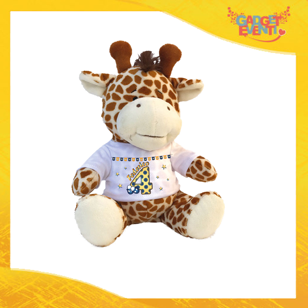 """Peluche Bimbo Pupazzi a forma di Giraffa """"Scarpine Nome e Numero"""" Pupazzetti per Compleanni Idea Regalo per Innamorati Gadget Eventi"""