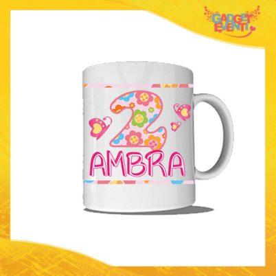"""Tazza Bimba Personalizzata """"Farfalle Nome e Numero"""" Mug per Compleanni Regalo Tazze Originali per Feste di Compleanno Gadget Eventi"""