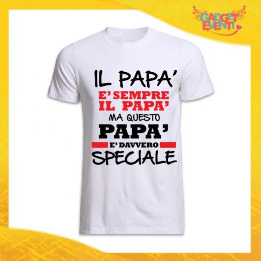 "T-Shirt Uomo Bianca ""Papà è Davvero Speciale"" Maglietta Festa del Papà Gadget Eventi"