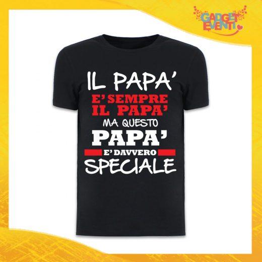 """T-Shirt Uomo Nera """"Papà è Davvero Speciale"""" Maglietta Festa del Papà Gadget Eventi"""
