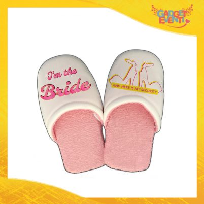 "Pantofole Donna Personalizzate ""Bride Security"" Idea Regalo Per Addii al Nubilato Gadget Eventi"