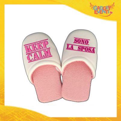 """Pantofole Donna Personalizzate """"Keep Calm Sposa"""" Idea Regalo Per Addii al Nubilato Gadget Eventi"""