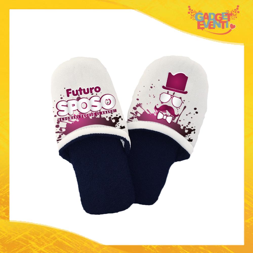 """Pantofole Uomo Personalizzate """"Futuro Sposo Sosteniamolo Tutti"""" Idea Regalo Per Addii al Celibato Gadget Eventi"""