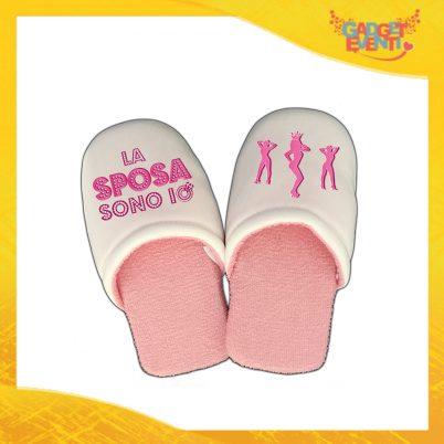 """Pantofole Donna Personalizzate """"La Sposa Sono Io"""" Idea Regalo Per Addii al Nubilato Gadget Eventi"""