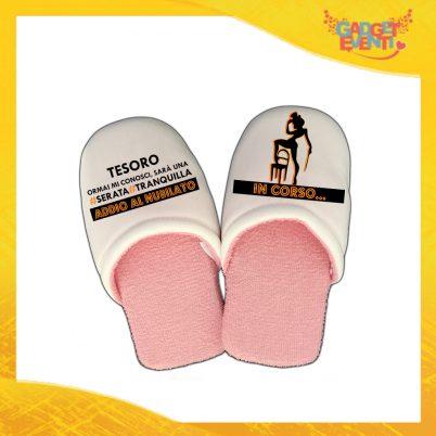 """Pantofole Donna Personalizzate """"Serata Tranquilla"""" Idea Regalo Per Addii al Nubilato Gadget Eventi"""