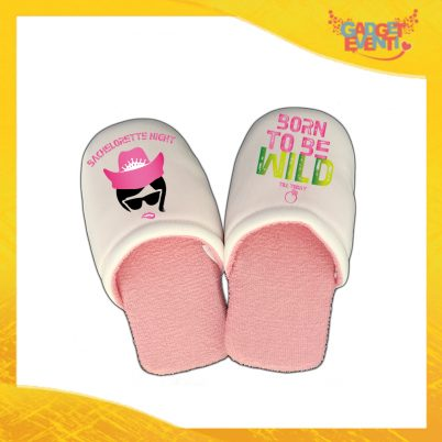 "Pantofole Donna Personalizzate ""Born To Be Wild"" Idea Regalo Per Addii al Nubilato Gadget Eventi"