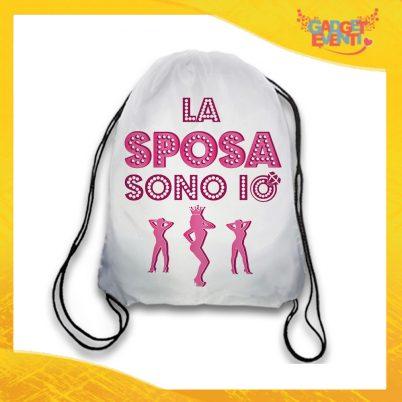"""Sacca Sport Bianca """"Serata Tranquilla"""" Idea Regalo Per Addii al Nubilato Gadget Eventi"""