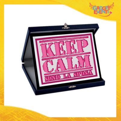 """Targa Donna Personalizzata """"Keep Calm Sposa"""", Cofanetto per Addii al Nubilato Idea Regalo Gadget Eventi"""