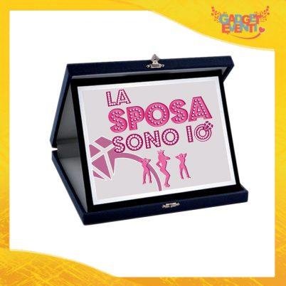 """Targa Donna Personalizzata """"La Sposa Sono Io"""", Cofanetto per Addii al Nubilato Idea Regalo Gadget Eventi"""