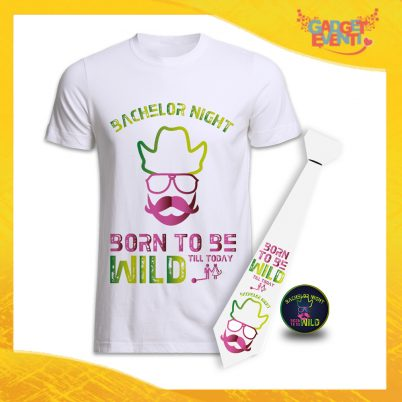 kit party addio al Celibato BORN TO BE WILD bianco